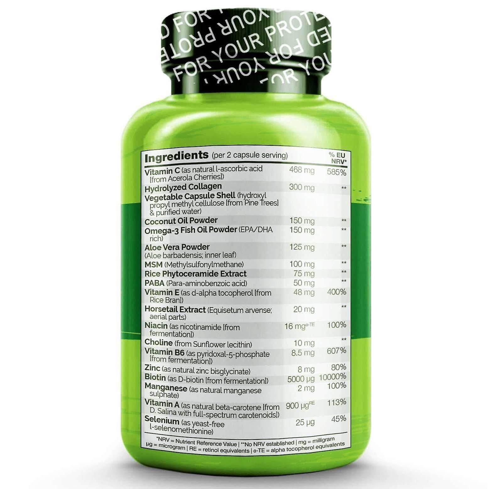 Hair, skin & nails with biotin, vitamin c & collagen