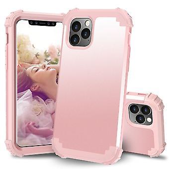 Für iPhone 11 Pro PC + Silikon dreiteilige Anti-Dropback Cover Rose gold