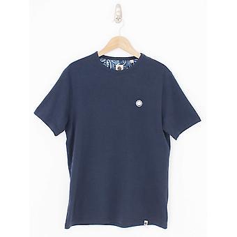 Pretty Green Classic Crew Neck Logo T-Shirt - Navy