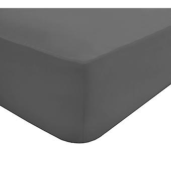 Extra Deep Fitted Sheet Grey - Double