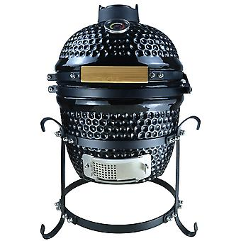 Outsunny Charcoal Grill Original Cast Iron BBQ Picnic Cooking Smoker Standing Heat Control Black