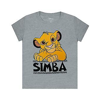 Disney Lion King Simba Boy's Grey Short Sleeve Casual T-Shirt