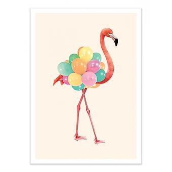 Art-Poster - Flamingo Party - Paul Fuentes 50 x 70 cm
