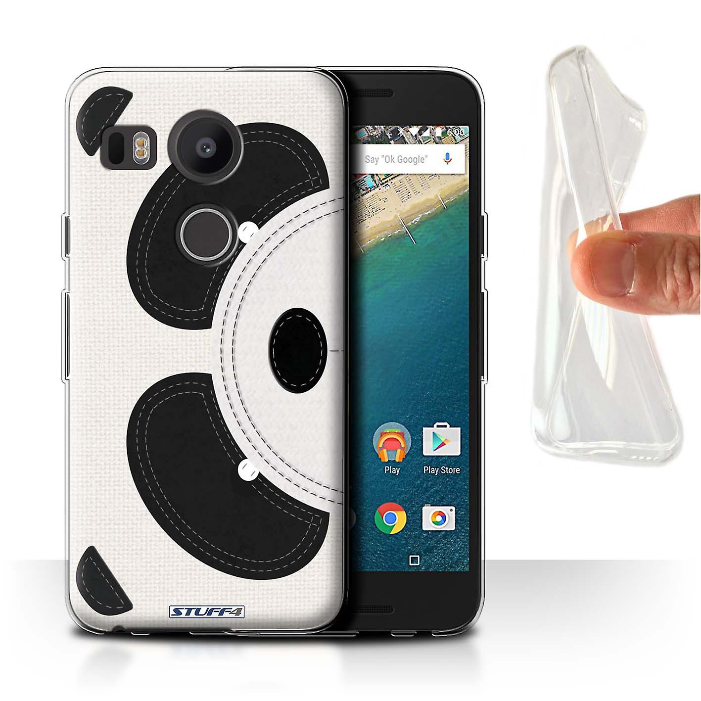 STUFF4 Gel/TPU Case/Cover for LG Nexus 5X/Panda/Animal Stitch Effect