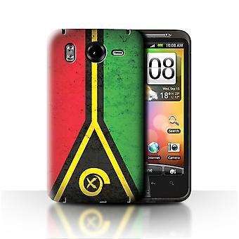 STUFF4 Fall/Cover für HTC Desire HD/G10/Vanuatu/Vanuatuan/Oceania Flagge