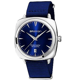 Briston 19640.PS.I.9.NNB Clubmaster Iconic Blue Strap Automatic Wristwatch
