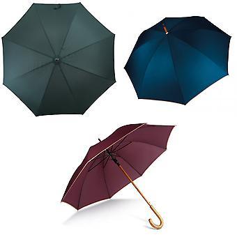 Kimood unissex automático aberto punho de madeira andar de guarda-chuva