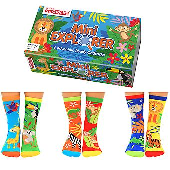 United Oddsocks Mini Explorer Socks Gift Set For Little People
