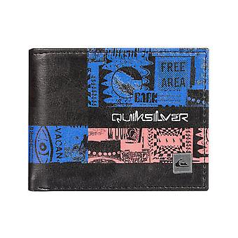Quiksilver نضارة الثاني فو محفظة جلدية باللون الأسود