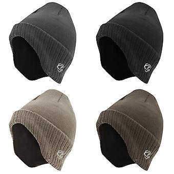 Adulti Unisex termica a maglia inverno inverno/sci cappello con fodera (a forma di coprire orecchie)