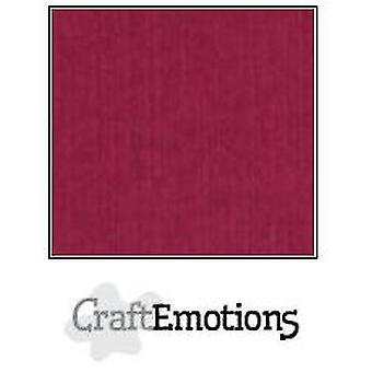 CraftEmotions papelão de linho 100 Sh bordeaux Bulk LC-25 30,5x30,5cm 250gr
