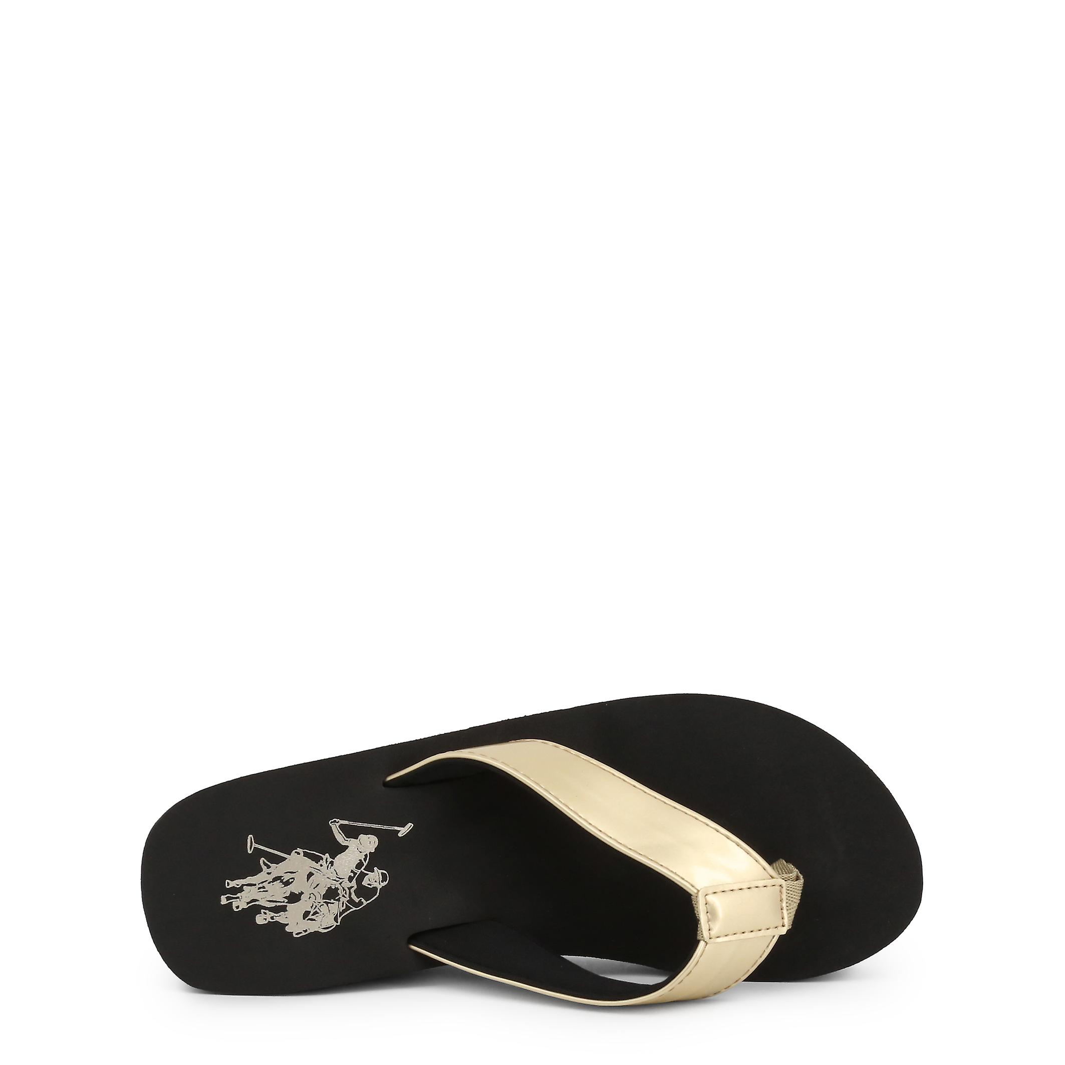 U.s. Polo Assn. Original Women Spring/summer Flip Flops Black Color - 73278