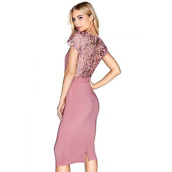 Little Mistress Womens/Ladies Rosette V-Neck Bodycon Dress