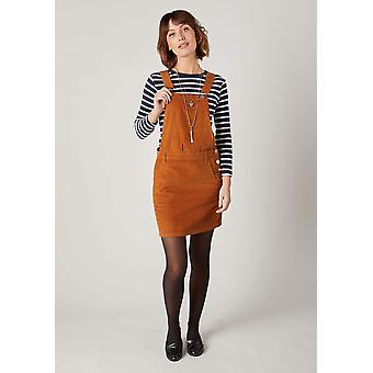 Cerys marrone cordo pinafore