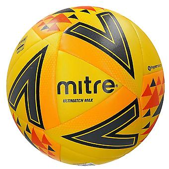 Mitre Ultimatch Max FIFA Qualtity Match Football Soccer Ball Yellow/Orange/Black