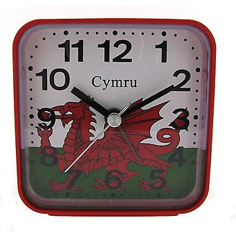 PWL Red Wales Welsh Cymru Alarm Clock For UK Use