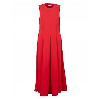Calvin Klein Womenswear Smooth Twill Button Sleeveless Dress