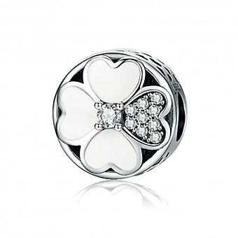 Sterling Silver Charm Clovers Of Love - 5485