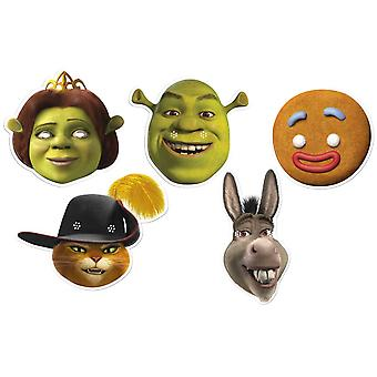 Shrek Variety Card Party Fancy Dress Masques 5 Pack