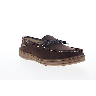 Ben Sherman Matt Moc  Mens Brown Suede Casual Lace Up Boat Shoes