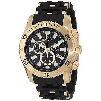 Invicta Sea Spider 0140 ruostumaton teräs, polyuretaani Chronograph Watch