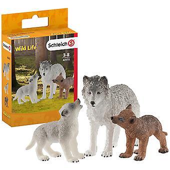 Schleich 42472 Faune Mère Loup avec des chiots