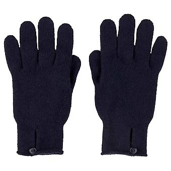 Johnstons of Elgin Button Loop Gloves - Navy