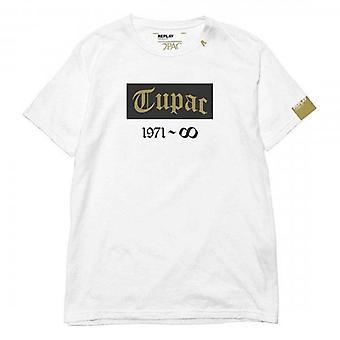 Replay Tribute Tupac Logo Crew Neck T-paita Valkoinen M3946G