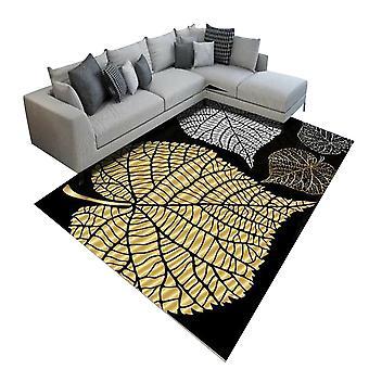 Vierkant kristalfluwelen tapijt Inkt-stijl gedrukt tapijt Eenvoudig en elegant voor slaapkamer en woonkamer
