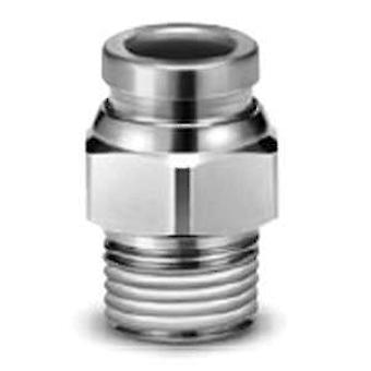 SMC Connector, R 1/4 Male, Push In 8 Mm