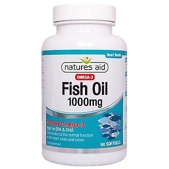 Nature's Aid Fish Oil 1000mg (Ômega-3) Softgels 90 (17330)