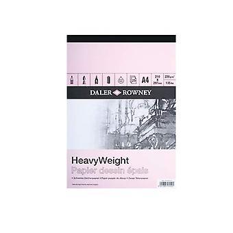 Daler Rowney Heavyweight Cartridge Pad 220gm A3, 25 Hojas (Pad)