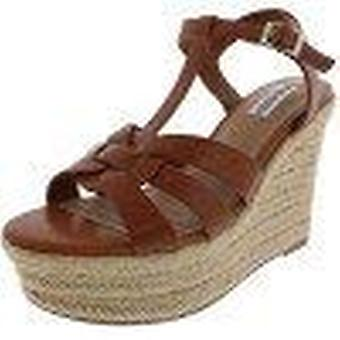 Steve Madden Womens Keesha Leather Open Toe Casual Espadrille Sandals
