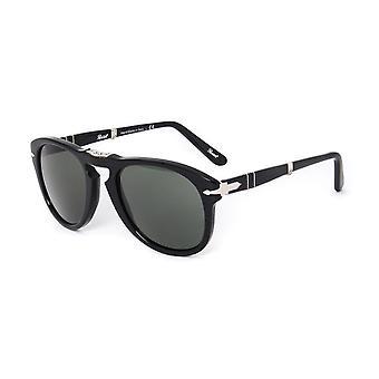 Persol 714 Black Acetate Folding Aviator Sunglasses