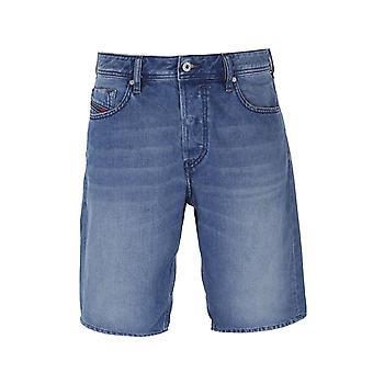 Diesel Keeshort Calzoncini Blue Wash Denim Shorts