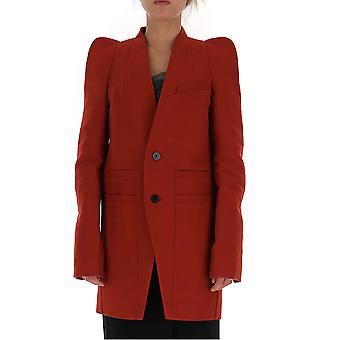 Rick Owens Ro19f5797smk133 Women's Red Cotton Coat