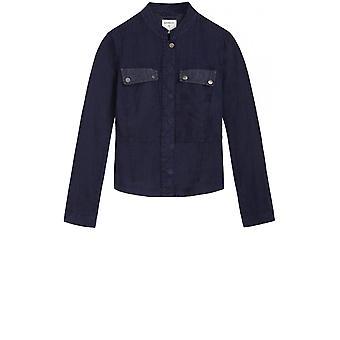 Sandwich Clothing Navy Linen Jacket
