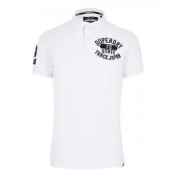 Superdry Classic Superstate Pique Polo White 01C