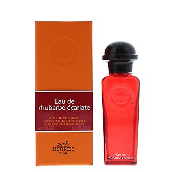 Hermes Eau de Rhubarbe Ecarlate Eau de Cologne 50ml Refillable Spray Unisex