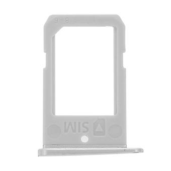 Nano-SIM card tray replacement part for Samsung Galaxy S6 Edge - Grey
