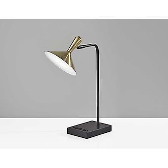 """7"""" X 13"""" X 21.75"""" Black Metal LED Desk Lamp"""