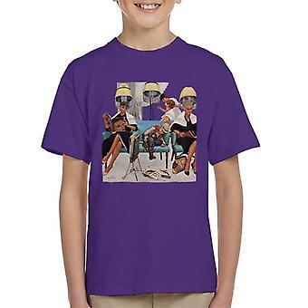 The Saturday Evening Post Kurt Ard Hairdresser Scene Kid's T-Shirt