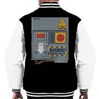 O crystal maze lock in board men's varsity jacket