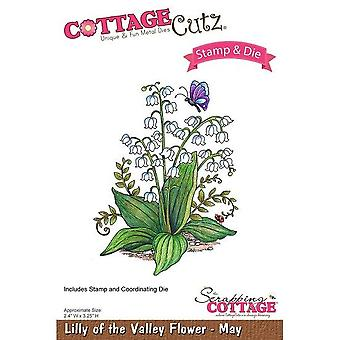 Scrapping Cottage CottageCutz Lilly of the Valley Flower - May
