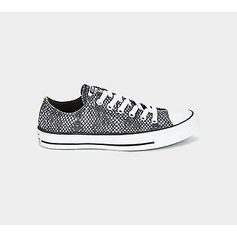 كونفيرس Ctas 557973C القرش الجلد طباعة المدربين الأسود / الأبيض أحذية النساء الأحذية