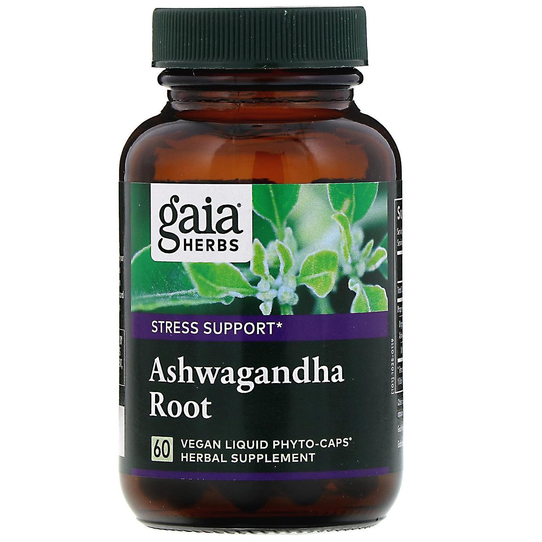 gaia herbs ashwagandha root 60 vegan liquid phytocaps