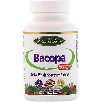 Paradise Herbs, Bacopa, 60 capsules végétariennes