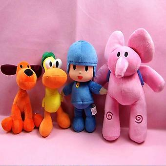 Elly, Pato, Pocoyo & Loula Peluche Doll Soft Stuffed Animals Jouet
