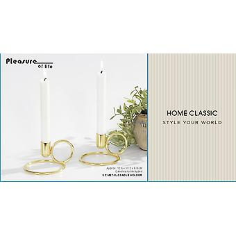 Chandelier Or forgeant 2-pack 8 cm
