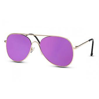 النظارات الشمسية المرأة الطيار Cat.3 الذهب / البنفسجي (CWI1442)